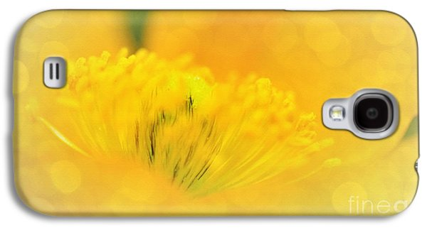 Sunlight On Poppy Abstract Galaxy S4 Case by Kaye Menner