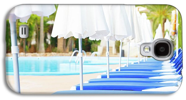 Sunloungers And Parasols In A Row Galaxy S4 Case by Wladimir Bulgar