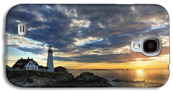 Sunrise At Portland Head Light Galaxy S4 Case by Diane Diederich