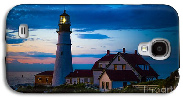 Sunrise At Portland Head Lighthouse Galaxy S4 Case by Diane Diederich