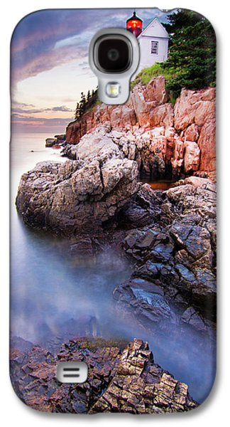 Sunset At Bass Harbor Lighthouse Galaxy S4 Case