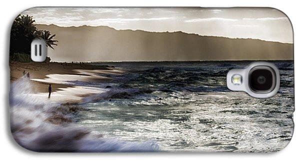 Sunset At Haleiwa Beach Oahu Hawaii V2 Galaxy S4 Case by Douglas Barnard