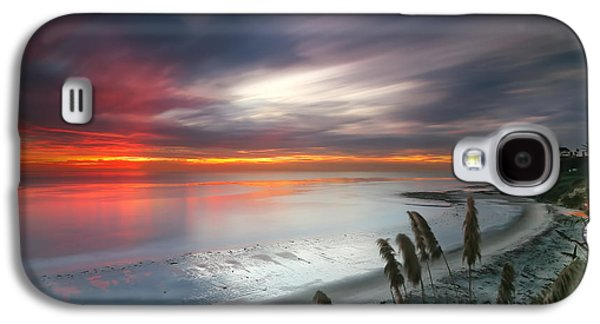 Sunset At Swamis Beach 4 Galaxy S4 Case by Larry Marshall