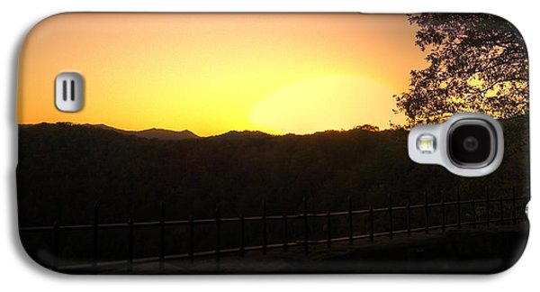 Galaxy S4 Case featuring the photograph Sunset Behind Hills by Jonny D