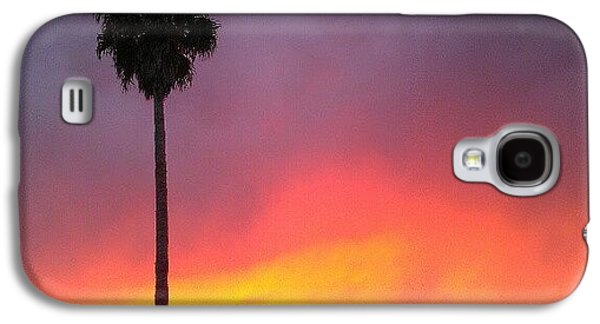 Orange Galaxy S4 Case - Sunset California by CML Brown