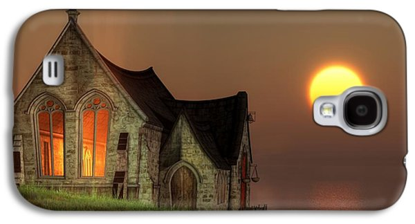 Sunset Chapel By The Sea Galaxy S4 Case by Christian Art