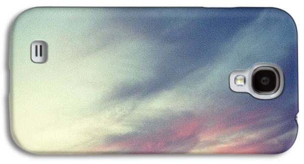 Blue Galaxy S4 Case - Sunset Clouds by Christy Beckwith