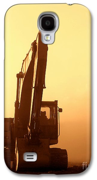 Sunset Excavator Galaxy S4 Case by Olivier Le Queinec