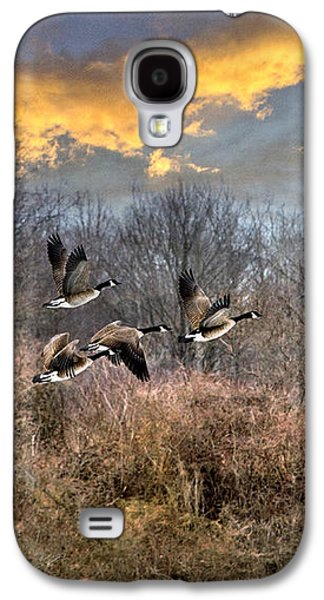 Sunset Geese Galaxy S4 Case by Christina Rollo