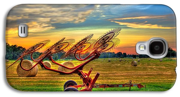 Sunset Hayrake Resting Galaxy S4 Case