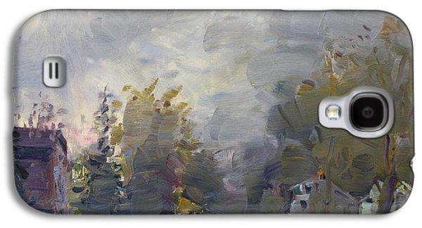 Sunset In A Foggy Fall Day Galaxy S4 Case by Ylli Haruni