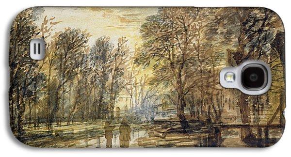 Sunset In The Wood Galaxy S4 Case by Aert van der Neer