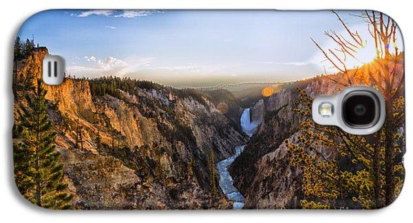 Sunset In Yellowstone Grand Canyon Galaxy S4 Case