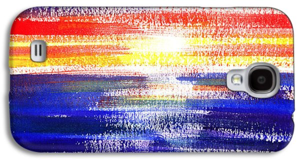 Sunset Lines Abstract Galaxy S4 Case