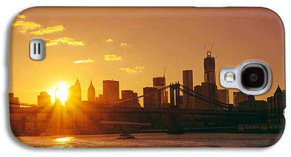 City Sunset Galaxy S4 Case - Sunset - New York City by Vivienne Gucwa