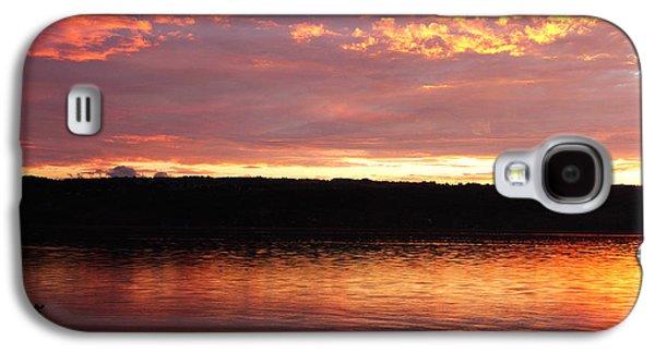 Sunset On Cayuga Lake Cornell Sailing Center Ithaca New York II Galaxy S4 Case