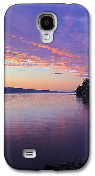 Sunset On Cayuga Lake Cornell Sailing Center Ithaca New York IIi Galaxy S4 Case