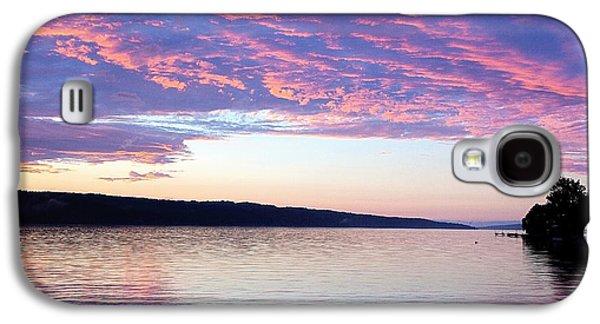 Sunset On Cayuga Lake Cornell Sailing Center Ithaca New York Galaxy S4 Case
