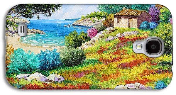 Sunset On The Beach Galaxy S4 Case by Jean-Marc Janiaczyk