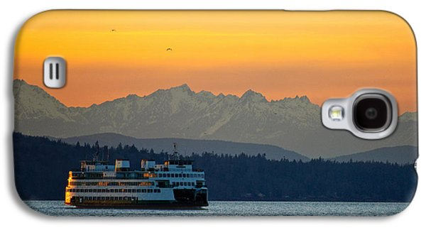 Sunset Over Olympic Mountains Galaxy S4 Case