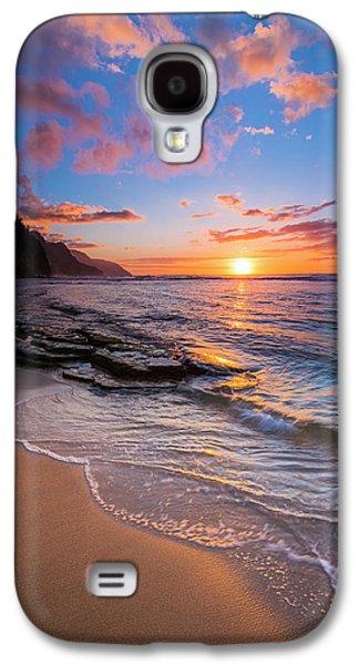 Sunset Over The Na Pali Coast From Ke'e Galaxy S4 Case