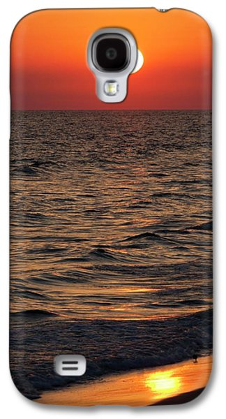 Sunset Over The Ocean And A Beach Galaxy S4 Case