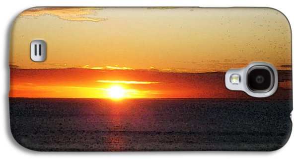 Sunset Painting - Orange Glow Galaxy S4 Case by Sharon Cummings