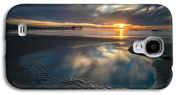 Sunset Reflections In San Diego Landscape Version Galaxy S4 Case by Larry Marshall