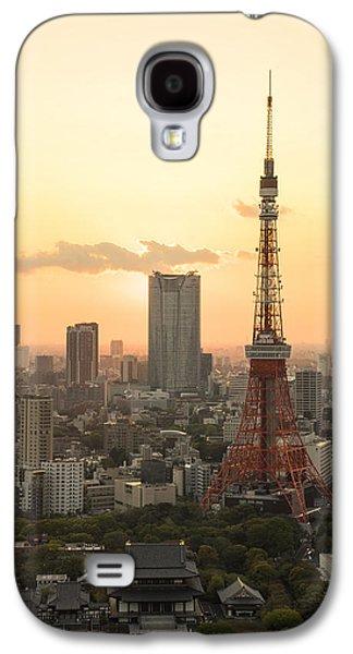 Sunset Tokyo Tower Galaxy S4 Case