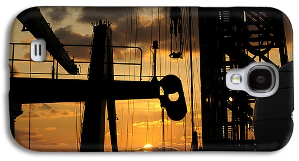 Sunset Viewed From An Oil Rig Galaxy S4 Case