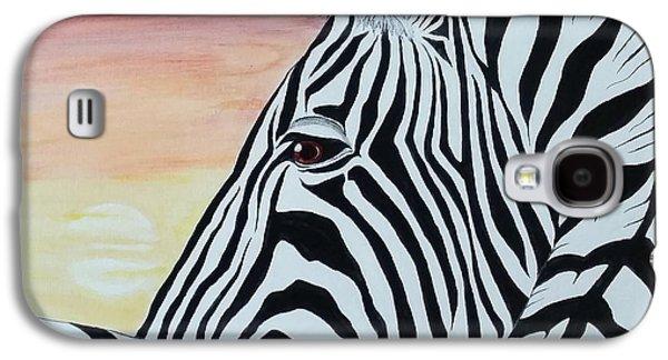 Sunset Zebra Galaxy S4 Case by Steven White