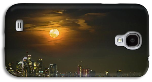 Downtown Galaxy S4 Case - Super Blue Bloody Moon by Eunice Kim