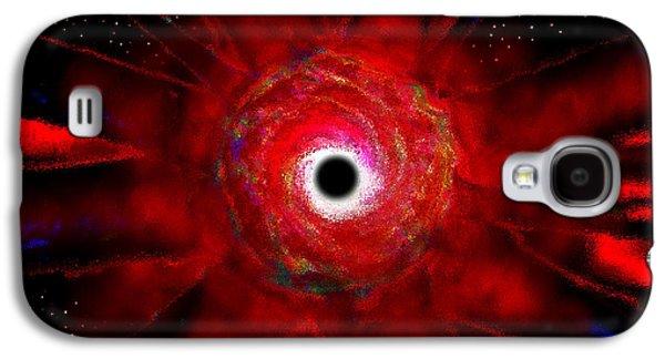 Super Massive Black Hole Galaxy S4 Case