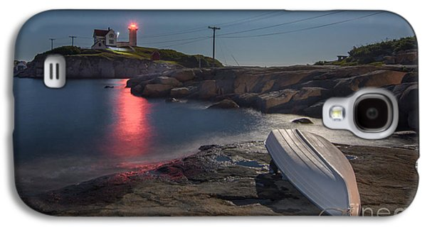 Super Moon Over Nubble Galaxy S4 Case by Scott Thorp