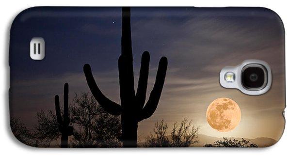 Super Moon Over Sonoran Desert Galaxy S4 Case