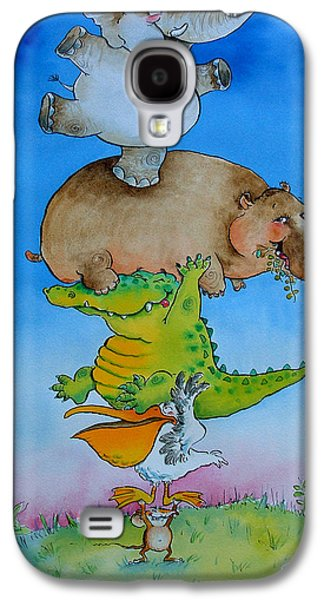 Super Mouse Pen & Ink And Wc On Paper Galaxy S4 Case by Maylee Christie