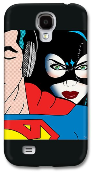 Superman And Catwoman  Galaxy S4 Case by Mark Ashkenazi