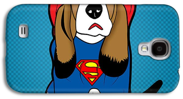 Superman Dog  Galaxy S4 Case by Mark Ashkenazi