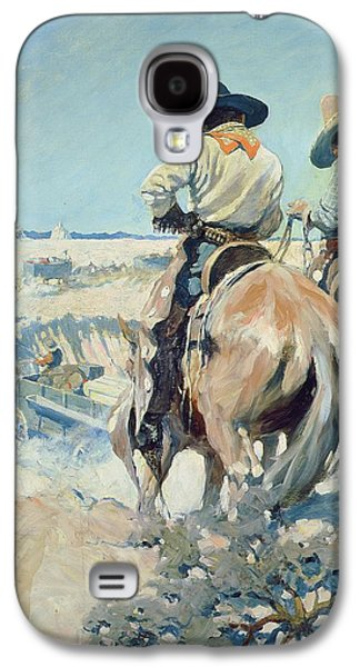 Supply Wagons Galaxy S4 Case by Newell Convers Wyeth