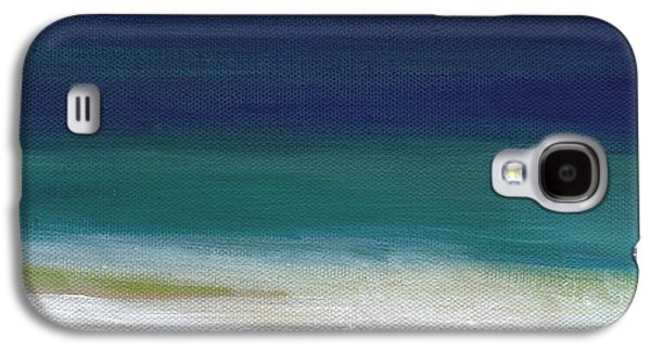 Surf And Sky- Abstract Beach Painting Galaxy S4 Case