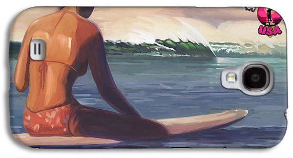Surfer Girl Pleasure Point Galaxy S4 Case by Tim Gilliland