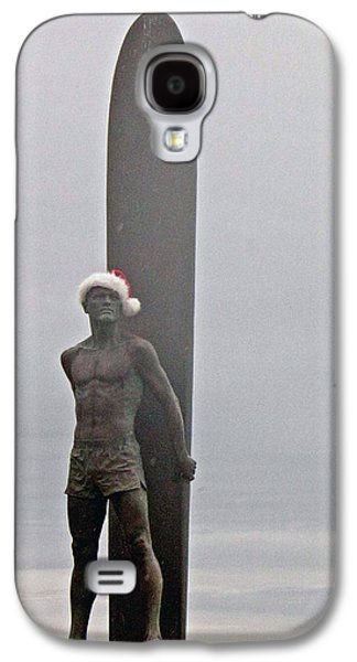 Galaxy S4 Case featuring the photograph Surfer Santa  by Lora Lee Chapman