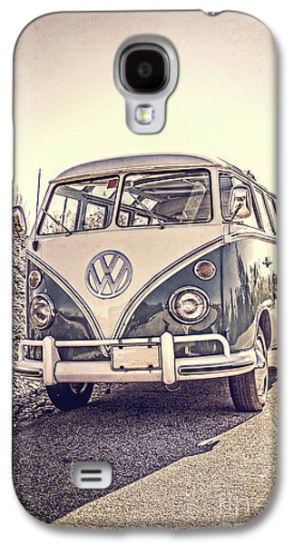 Surfer's Vintage Vw Samba Bus At The Beach Galaxy S4 Case