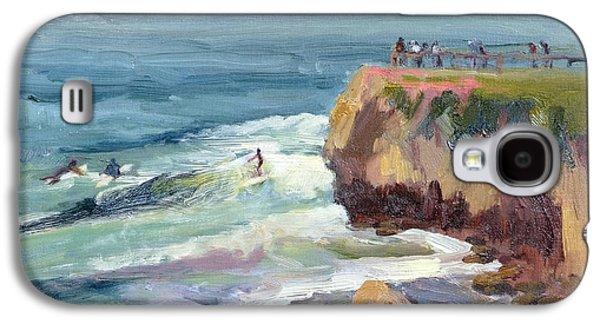 Surfing At Steamers Lane Santa Cruz Galaxy S4 Case