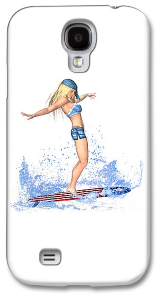 Surfing Girl Galaxy S4 Case by Renate Janssen
