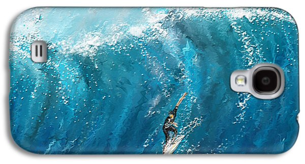 Surf's Up- Surfing Art Galaxy S4 Case by Lourry Legarde