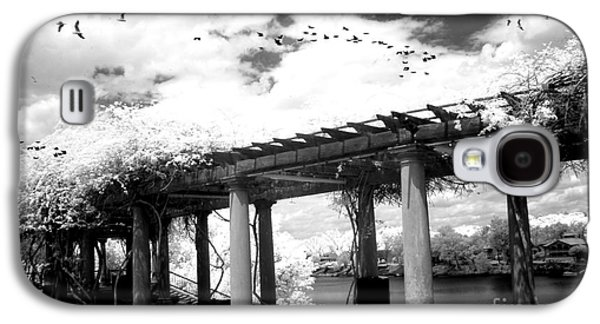 Surreal Augusta Georgia Black And White Infrared  - Riverwalk River Front Park Garden   Galaxy S4 Case by Kathy Fornal