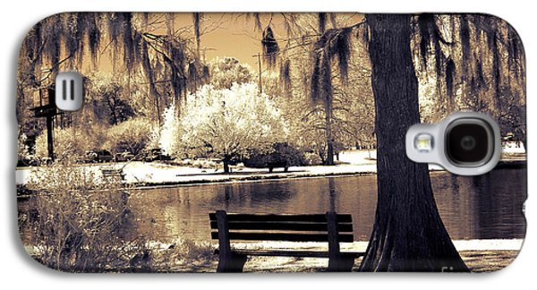 Surreal Fantasy Ethereal Infrared Sepia Park Nature Landscape  Galaxy S4 Case by Kathy Fornal
