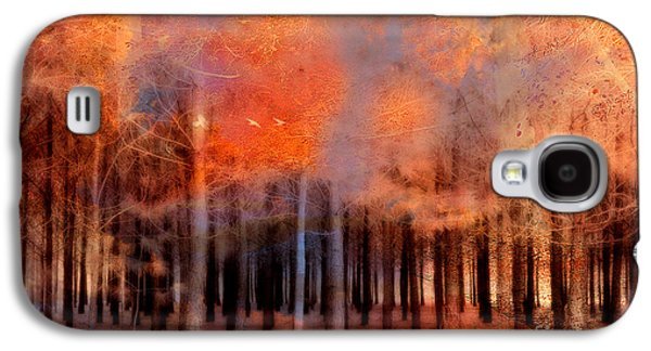 Surreal Fantasy Ethereal Trees Autumn Fall Orange Woodlands Nature  Galaxy S4 Case by Kathy Fornal