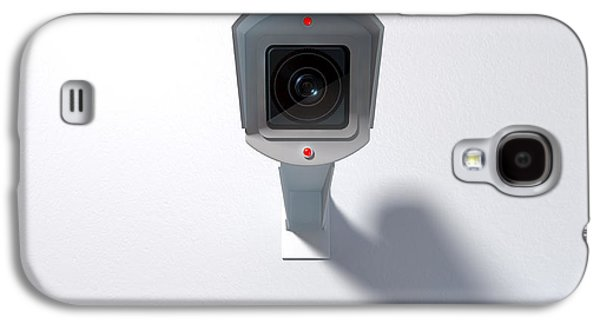 Surveillance Camera On White Galaxy S4 Case by Allan Swart